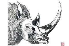 Lillian_Favreau_Rhinoceros_Linocut_Print_21x17_2020._For_sale_-_150_
