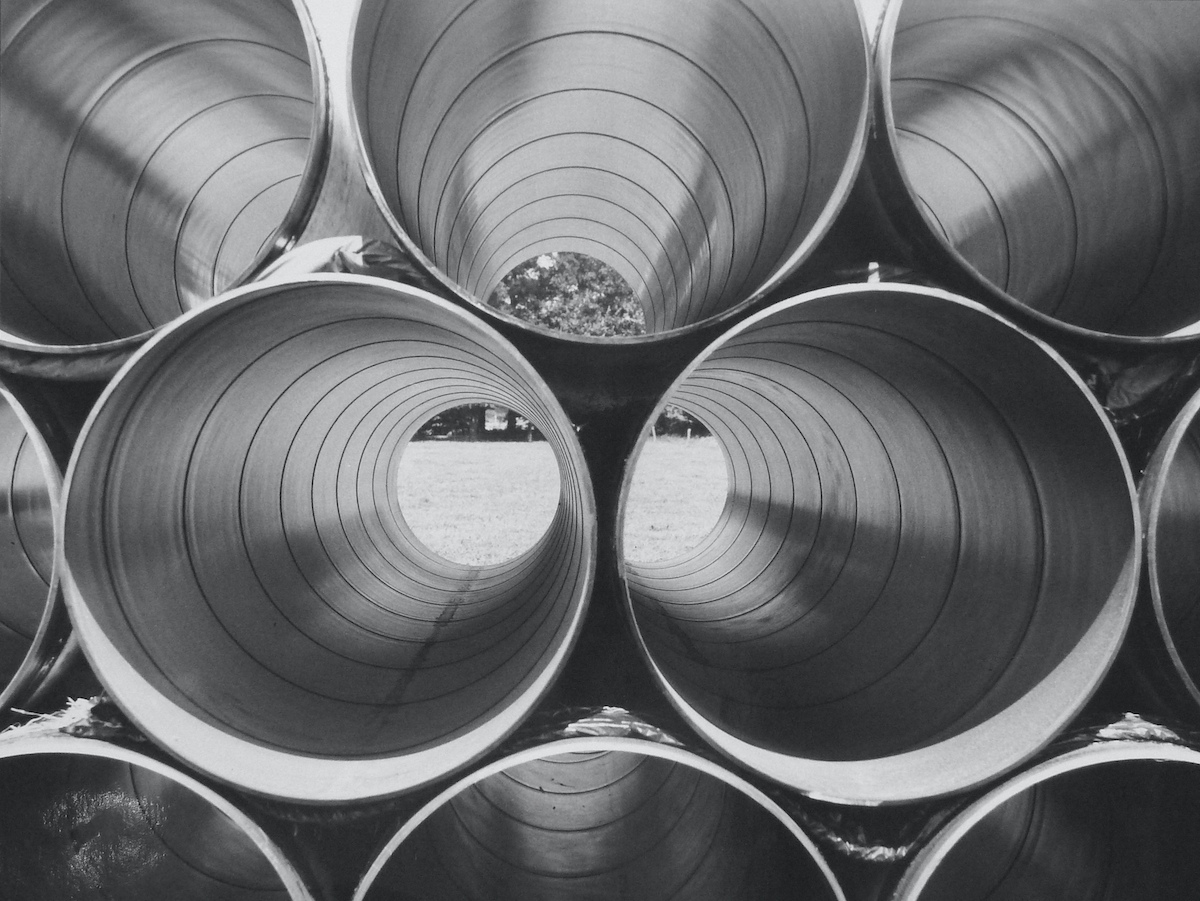 Fritz-Gerlinger-Steel-Pipes-n.d.-gelatin-silver-print-15.75_-x-19.75_-2016.103