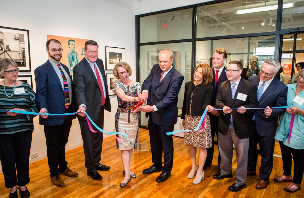 ribbon cutting at campaign celebration May 2019